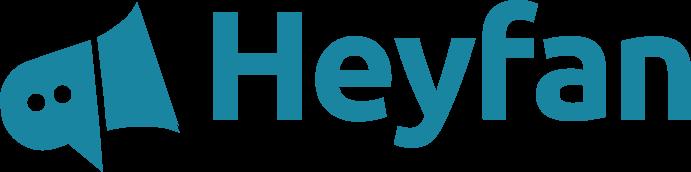 Logo heyfan.de - buche persönliche Videobotschaften deiner Stars